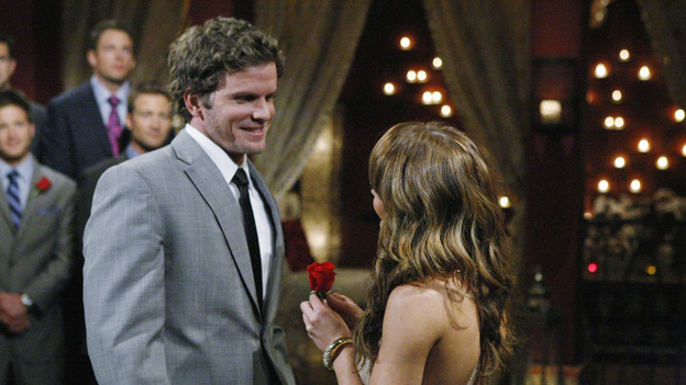 "THE BACHELORETTE - The premiere, ""Episode 701,"" begins with a huge surprise as Ashley discloses she already knows one of the men, someone a former ""Bachelor"" cast member has warned her is here for the wrong reasons. Meanwhile, Ashley's old insecurity returns when she reveals to Chris Harrison that she fears the men will be disappointed when they learn she is the Bachelorette. The 25 eligible guys start arriving, eager to make an impression, including a handsome chef who steals a kiss; a Wall St. banker who brings her a pair of ballet tickets; a winery owner who pours her a bottle of her own special vintage, and a former professional baseball player who recites a poem he wrote for her. But nothing tops the mysterious bachelor who steps out of the limo wearing a mask. Finally, the man Ashley has been warned about arrives; though skeptical, she is thrown by his good looks and quiet charm. ""The Bachelorette"" premieres MONDAY, MAY 23 (9:00-11:00 p.m., ET), on the ABC Television Network. (ABC/RICK ROWELL) FOREGROUND: BENTLEY, ASHLEY HEBERT"