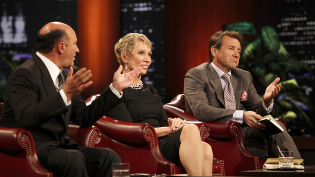 "SHARK TANK - ""Episode 206"" -- For the first time, there will be children seeking a business investment from the Sharks for an idea they came up with while on a family road trip. Also in this episode, a stay-at-home mom who taught herself carpentry and started a furniture business has the Sharks fighting for a piece of it; an entrepreneur brings an innovative secret formula to the Tank; and a personal trainer believes he has the next hot trend in fitness equipment.  In addition, there'll be a follow-up with Grill Charms' owner, Leslie Haywood, to see what making a deal with Robert Herjavec has done for her barbeque accessory, on ""Shark Tank,"" FRIDAY, APRIL 1 (8:00-9:00 p.m., ET) on the ABC Television Network. (ABC/CRAIG SJODIN)KEVIN O'LEARY, BARBARA CORCORAN, ROBERT HERJAVEC"
