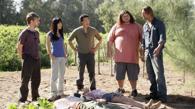 "LOST - ""Expos"" - Hurley begins to suspect that Sawyer may be involved in an island mystery surrounding two fellow survivors, and Sun learns the truth about her past kidnapping attempt by ""The Others,"" on ""Lost,"" WEDNESDAY, MARCH 28 (10:00-11:00 p.m., ET), on the ABC Television Network. (ABC/MARIO PEREZ)DOMINIC MONAGHAN, YUNJIN KIM, DANIEL DAE KIM, JORGE GARCIA, JOSH HOLLOWAY"