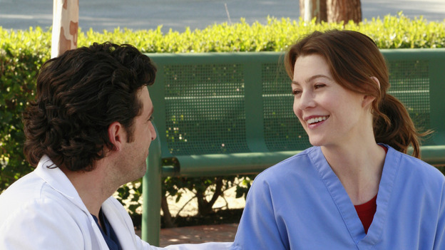 "GREY'S ANATOMY - ""The Other Side of This Life"" - Addison takes temporary leave from Seattle Grace and makes a road trip to Los Angeles in order to visit some old friends from medical school. As Meredith continues to bond with her stepmother, Susan, Cristina reluctantly plans her wedding with the assistance of her mother, Helen, and Burke's mother, Mama Jane. Meanwhile, Derek must perform  emergency surgery on Ava/Jane Doe, as Alex continues his unfailing bedside manner with her, on ""Grey's Anatomy,"" THURSDAY, MAY 3 (9:00-11:00 p.m., ET) on the ABC Television Network. (ABC/RON  TOM)PATRICK DEMPSEY, ELLEN POMPEO"