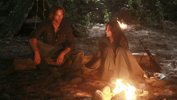 "LOST - ""Recon"" - Locke tasks Sawyer with a mission, on ""Lost,"" TUESDAY, MARCH 23 (9:00-10:00 p.m., ET) on the ABC Television Network.  (ABC/MARIO PEREZ)JOSH HOLLOWAY, EVANGELINE LILLY"