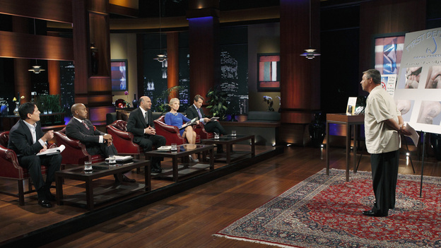 "SHARK TANK - ""Episode 202"" - Season Two of ""Shark Tank"" promises to make TV history with the Sharks offering over $10 million in investment deals to bankroll a creative array of innovative entrepreneurs. This season, high tech billionaire entrepreneur Mark Cuban and successful comedian and self-made businessman Jeff Foxworthy jump into the Tank to appear separately in the show's nine episodes. The Season Premiere, ""Episode 202,"" airs FRIDAY, MARCH 25 (8:00-9:00 p.m., ET) on ABC. (ABC/CRAIG SJODIN)MARK CUBAN, DAYMOND JOHN, KEVIN O'LEARY, BARBARA CORCORAN, ROBERT HERJAVIC, JOE MOORE (FIRST DEFENSE NASAL SCREENS)"