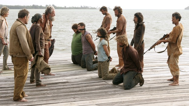 "LOST -- ""Live Together, Die Alone"" - After discovering something odd just offshore, Jack and Sayid come up with a plan to confront ""The Others"" and hopefully get Walt back. Meanwhile, Eko and Locke come to blows as Locke makes a potentially cataclysmic decision regarding the ""button"" and the hatch, on the season finale of ""Lost,"" WEDNESDAY, MAY 24 (9:00-11:00 p.m., ET), on the ABC Television Network. (ABC/MARIO PEREZ)MICHAEL VENDRELL, APRIL GRACE, M.C. GAINEY, JORGE GARCIA, MATTHEW FOX, EVANGELINE LILY, JOSH HOLLOWAY, TANIA RAYMONDE"