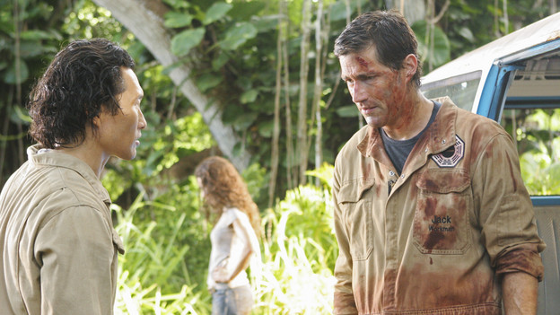 LOST - &quot;LA X&quot; - &quot;Lost&quot; returns for its final season of action-packed mystery and adventure -- that will continue to bring out the very best and the very worst in the people who are lost -- on the season premiere of &quot;Lost,&quot; TUESDAY, FEBRUARY 2 (9:00-11:00 p.m., ET) on the ABC Television Network. On the season premiere episode, &quot;LA X&quot; Parts 1 &amp; 2, the aftermath from Juliet's detonation of the hydrogen bomb is revealed. (ABC/MARIO PEREZ) DANIEL DAE KIM, EVANGELINE LILLY, MATTHEW FOX