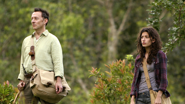 "LOST- ""Through the Looking Glass"" - Jack and the castaways begin their efforts to make contact with Naomi's rescue ship, on the season finale of ""Lost,"" WEDNESDAY, MAY 23 (9:00-11:00 p.m., ET), on the ABC Television Network. (ABC/MARIO PEREZ)MICHAEL EMERSON, TANIA RAYMONDE"