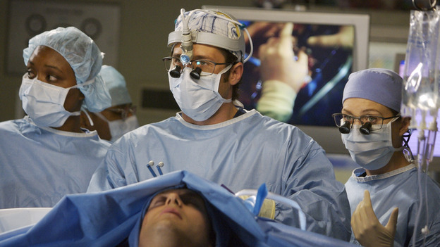 GREY'S ANATOMY - &quot;Piece of My Heart&quot; - Addison returns to Seattle Grace to perform an operation and is taken aback by all of the changes in her old co-workers' lives. Meanwhile Meredith and Derek's clinical trial has its first patient, and Rebecca/Ava returns with shocking news for Alex, on &quot;Grey's Anatomy,&quot; THURSDAY, MAY 1 (9:00-10:01 p.m., ET) on the ABC Television Network.  (ABC/SCOTT GARFIELD)JASON O'MARA, PATRICK DEMPSEY, ELLEN POMPEO