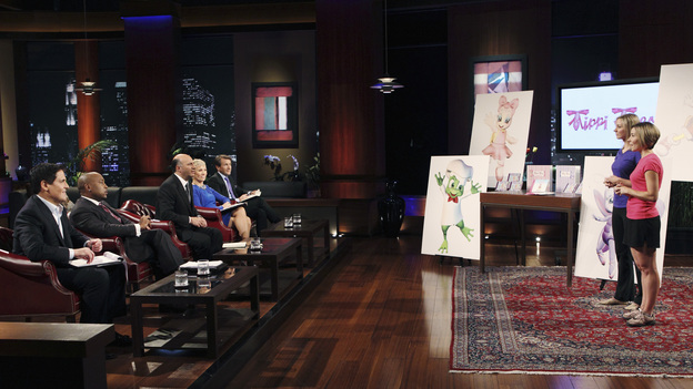 "SHARK TANK -""Episode 205"" - ABC will air a special sneak preview episode of Season Two of its hit reality series, ""Shark Tank,"" SUNDAY, MARCH 20 (9:00-10:00 p.m., ET). In the preview, ""Episode 205,"" the Sharks are stunned to discover the shark-like exploits of a sweet-faced sister duo with a children's dance company; a chef from Tennessee hopes to whet the Sharks' appetites with his delectable seafood products; and a winemaker from Oregon believes he has a game-changing new product that will revolutionize the wine industry. Also, an entrepreneur with a line of men's accessories has his hopes set on partnering with Daymond John - but his big mouth infuriates this Shark and could jeopardize the entire deal. (ABC/CRAIG SJODIN)MARK CUBAN, DAYMOND JOHN, KEVIN O'LEARY, BARBARA CORCORAN, ROBERT HERJAVEC, MEGAN REILLY, SARAH NUSE (TIPPI TOES)"