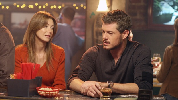 GREY'S ANATOMY - &quot;Let the Angels Commit&quot; -- Cristina scrubs in on the rare 'humpty dumpty' procedure, much to the envy of her fellow doctors, Alex questions his future medical specialty, George and Addison work with a pregnant woman with an unusual dilemma, and Derek receives a surprise visit from his sister, on &quot;Grey's Anatomy,&quot; THURSDAY, OCTOBER 26 (9:00-10:01 p.m., ET) on the ABC Television Network. (ABC/RICHARD CARTWRIGHT)ELLEN POMPEO, ERIC DANE