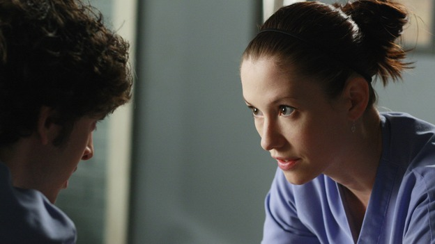"GREY'S ANATOMY - ""These Ties That Bind"" - Lexie and the other Interns are practicing procedures on each other, on ""Grey's Anatomy,"" THURSDAY, NOVEMBER 13 (9:00-10:01 p.m., ET) on the ABC Television Network. (ABC/RON TOM) MARK SAUL, CHYLER LEIGH"