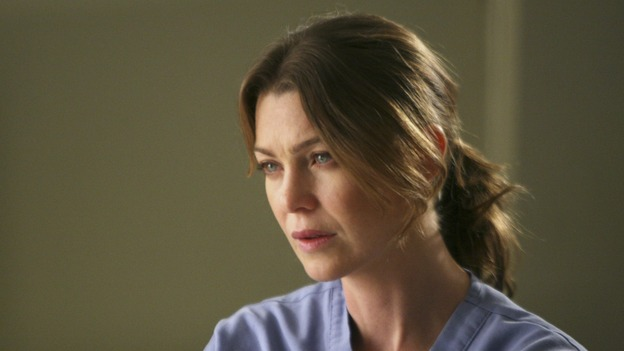 "GREY'S ANATOMY - ""Crash Into Me -- Part One"" - An ambulance crash endangers the lives of the paramedics involved, as Meredith and the Chief work on-site to save them, Bailey treats a patient who refuses her help, and Ava returns for Alex and meets his other girlfriend in the process, on ""Grey's Anatomy,"" THURSDAY, NOVEMBER 22 (9:00-10:02 p.m., ET) on the ABC Television Network. (ABC/MICHAEL DESMOND)ELLEN POMPEO"