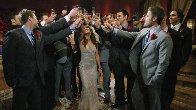 "THE BACHELORETTE - The premiere, ""Episode 701,"" begins with a huge surprise as Ashley discloses she already knows one of the men, someone a former ""Bachelor"" cast member has warned her is here for the wrong reasons. Meanwhile, Ashley's old insecurity returns when she reveals to Chris Harrison that she fears the men will be disappointed when they learn she is the Bachelorette. The 25 eligible guys start arriving, eager to make an impression, including a handsome chef who steals a kiss; a Wall St. banker who brings her a pair of ballet tickets; a winery owner who pours her a bottle of her own special vintage, and a former professional baseball player who recites a poem he wrote for her. But nothing tops the mysterious bachelor who steps out of the limo wearing a mask. Finally, the man Ashley has been warned about arrives; though skeptical, she is thrown by his good looks and quiet charm. ""The Bachelorette"" premieres MONDAY, MAY 23 (9:00-11:00 p.m., ET), on the ABC Television Network. (ABC/RICK ROWELL)"