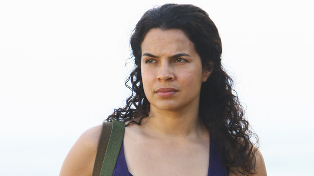"LOST - ""Everybody Loves Hugo"" - Hurley agonizes over what the group should do next, and Locke is curious about the new arrival to his camp, on ""Lost,"" TUESDAY, APRIL 13 (9:00-10:02 p.m., ET) on the ABC Television Network. (ABC/MARIO PEREZ) ZULEIKHA ROBINSON"