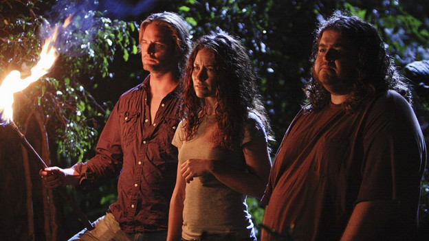 "LOST - ""What They Died For"" - While Locke devises a new strategy, Jack's group searches for Desmond, on ""Lost,"" TUESDAY, MAY 18 (9:00-10:02 p.m., ET) on the ABC Television Network. (ABC/MARIO PEREZ)JOSH HOLLOWAY, EVANGELINE LILLY, JORGE GARCIA"
