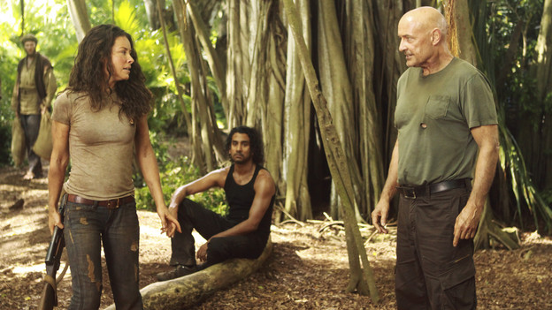LOST - &quot;Recon&quot; - Locke tasks Sawyer with a mission, on &quot;Lost,&quot; TUESDAY, MARCH 23 (9:00-10:00 p.m., ET) on the ABC Television Network.  (ABC/MARIO PEREZ)EVANGELINE LILLY, NAVEEN ANDREWS, TERRY O'QUINN