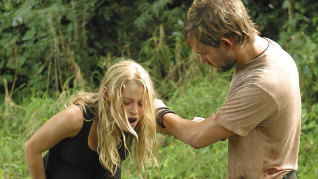 "LOST - ""Raised By Another"" - Jack, Kate and Charlie wonder if Claire's disturbing nightmares might be coming true to threaten her life and the life of her unborn child, and a missing castaway returns with frightening news about what lies just beyond the mountains, on ""Lost,"" WEDNESDAY, DECEMBER 1 (8:00-9:01 p.m., ET), on the ABC Television Network. (ABC/MARIO PEREZ) EMILIE DE RAVIN, DOMINIC MONAGHAN"