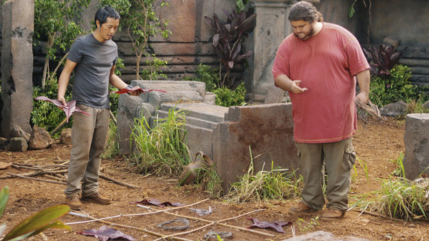 "LOST - ""Lighthouse"" - Hurley must convince Jack to accompany him on an unspecified mission, and Jin stumbles across an old friend, on ""Lost,"" TUESDAY, FEBRUARY 23 (9:00-10:00 p.m., ET) on the ABC Television Network. (ABC/MARIO PEREZ)KEN LEUNG, JORGE GARCIA"