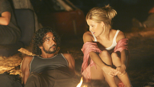 "LOST - ""Whatever the Case May Be"" - Jack, Kate and Sawyer fight over possession of a newly discovered locked metal briefcase which might contain insights into Kate's mysterious past. Meanwhile, Sayid asks a reluctant Shannon to translate notes he took from the French woman, a rising tide threatens to engulf the fuselage and the entire beach encampment, and Rose and a grieving Charlie tentatively bond over Claire's baffling disappearance, on ""Lost,"" WEDNESDAY, JANUARY 5 (8:00-9:00 p.m., ET), on the ABC Television Network.  (ABC/MARIO PEREZ) NAVEEN ANDREWS, MAGGIE GRACE"