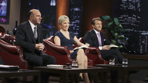 "SHARK TANK - ""Episode 203"" - While successful comedian and businessman Jeff Foxworthy makes his debut as a guest ""Shark"" investor, Vincent Pastore (""The Sopranos"") becomes the first celebrity to pitch a business proposition to the Sharks. He and his New Jersey business partner present a novel idea that could have everyone holding on tighter to their money. Also, a flight attendant and her husband, from Georgia, believe their unique portable child's seat will help make traveling with kids much easier; a duo from Florida believe they have the next big lifestyle clothing brand; an entrepreneur from North Carolina has an emotional attachment to a business his father started before he passed away; and there'll be an update on Tiffany Krumin, the maker of Ava the Elephant, a device that went from a home-made prototype to a mass-produced product sold in retail chains nationwide, on ""Shark Tank,"" FRIDAY, APRIL 8 (8:00-9:00 p.m., ET) on ABC. (ABC/MICHAEL ANSELL)KEVIN O'LEARY, BARBARA CORCORAN, ROBERT HERJAVEC"