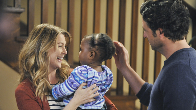 At the end of the day, Derek and Meredith try to make time for their little girl.