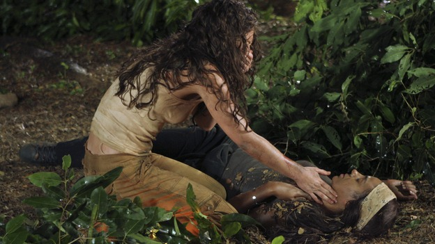 "LOST - ""The Beginning of the End"" - Awarded the 2005 Emmy and 2006 Golden Globe for Best Drama Series, ""Lost"" returns for its fourth season of action-packed mystery and adventure -- that will continue to bring out the very best and the very worst in the people who are lost. The season premiere of ""Lost"" airs on THURSDAY, JANUARY 31 (9:00-10:00 p.m., ET), on the ABC Television Network.  (ABC/MARIO PEREZ)EVANGELINE LILLY, MARSHA THOMASON"