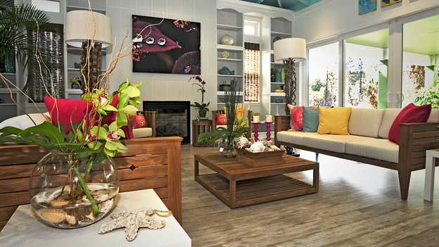 "EXTREME MAKEOVER HOME EDITION - ""Hurston Family,"" - Living Room Picture,        on ""Extreme Makeover Home Edition,"" Sunday, Febuary 13th     (8:00-9:00  p.m.    ET/PT) on the ABC Television Network"