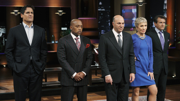SHARK TANK -&quot;Episode 204&quot; -- Tempers flare when guest Shark Mark Cuban urges the entrepreneurs to stop negotiating with the other Sharks if they even want a chance to make a business deal with him. In this episode, a fireman from Arkansas brings an invention to the Shark Tank that could make millions and save lives; after creating an eco-friendly way to listen to music on the go, a duo from Chicago hope the Sharks will want to invest; a feisty, combative entrepreneur from Montclair, New Jersey seeks to cash in on the lucrative wedding business; and a man from Oklahoma hopes the Sharks will smell the money when he pitches his unique male-oriented brand of candles, on &quot;Shark Tank,&quot; FRIDAY, MAY 6 (8:00-9:00 p.m., ET) on the ABC Television Network. (ABC/CRAIG SJODIN)MARK CUBAN, DAYMOND JOHN, KEVIN O'LEARY, BARBARA CORCORAN, ROBERT HERJAVEC