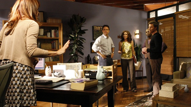 "PRIVATE PRACTICE - ""A Family Thing"" - At Oceanside Wellness, friendships are tested and secrets revealed when Addison discovers that Naomi is concealing the practice's financial problems. Meanwhile, Violet wonders what secret Cooper is keeping from her, while Cooper himself has to decide whether or not to reveal a medical secret to a patient, on the season premiere of ""Private Practice,"" WEDNESDAY, OCTOBER 1 (9:00-10:01 p.m., ET) on the ABC Television Network. (ABC/VIVIAN ZINK)KATE WALSH, PAUL ADELSTEIN, AMY BRENNEMAN, TAYE DIGGS, TIM DALY"