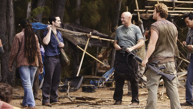 "LOST - ""Follow the Leader"" - Jack and Kate find themselves at odds over the direction to take to save their fellow island survivors, Locke further solidifies his stance as leader of ""The Others,"" and Sawyer and Juliet come under scrutiny from the Dharma Initiative, on ""Lost,"" WEDNESDAY, MAY 6 (9:00-10:02 p.m., ET) on the ABC Television Network.  (ABC/MARIO PEREZ)NESTOR CARBONELL, TERRY O'QUINN"