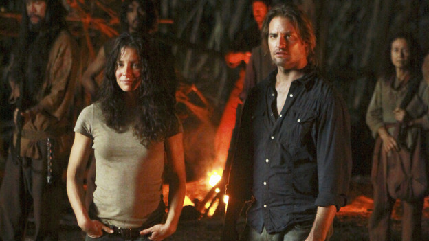 "LOST - ""Everybody Loves Hugo"" - Hurley agonizes over what the group should do next, and Locke is curious about the new arrival to his camp, on ""Lost,"" TUESDAY, APRIL 13 (9:00-10:02 p.m., ET) on the ABC Television Network. (ABC/MARIO PEREZ) EMILIE DE RAVIN, JOSH HOLLOWAY"
