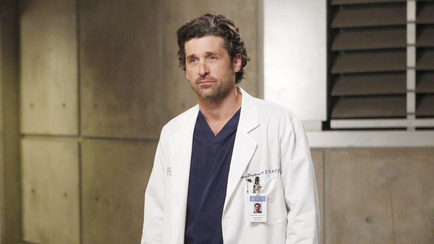 "GREY'S ANATOMY - ""Dark Was the Night"" - Teddy puts her husband's life in the hands of her peers when Henry is sent to the OR for surgery and she's called away on another case; Meredith and Derek receive the long-awaited news about Zola; Callie and Jackson come under fire when their patient experiences post-surgery complications; and Meredith and Alex are involved in a life-threatening situation when they travel to a neighboring hospital to tend to a sick newborn, on Grey's Anatomy, THURSDAY, NOVEMBER 10 (9:00-10:02 p.m., ET) on the ABC Television Network. (ABC/JORDIN ALTHAUS)PATRICK DEMPSEY"