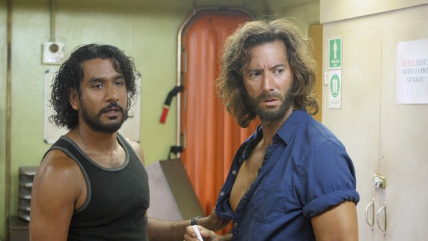 LOST - &quot;The Constant&quot; - Sayid and Desmond hit a bit of turbulence on the way to the freighter, which causes Desmond to experience some unexpected side effects, on &quot;Lost,&quot; THURSDAY, FEBRUARY 28 (9:00-10:02 p.m., ET) on the ABC Television Network. (ABC/MARIO PEREZ) NAVEEN ANDREWS, HENRY IAN CUSICK