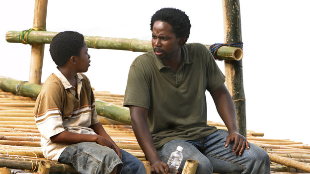 "LOST - ""Born to Run"" - Jack suspects foul play when Michael becomes violently ill while building the raft, on ""Lost,"" THURSDAY, MAY 11 on the ABC Television Network. (ABC/MARIO PEREZ) MALCOLM DAVID KELLEY, HAROLD PERRINEAU"