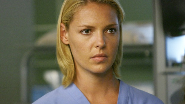 "GREY'S ANATOMY - ""Dream a Little Dream of Me"" - Dr. Izzie Stevens, on ""Grey's Anatomy,"" THURSDAY, SEPTEMBER 25 (9:00-11:00 p.m., ET) on the ABC Television Network. (ABC/SCOTT GARFIELD) KATHERINE HEIGL"