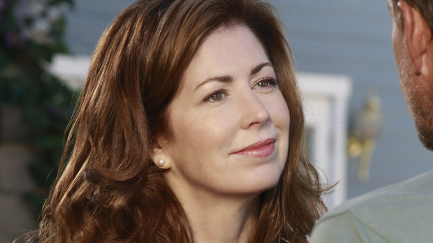 "DESPERATE HOUSEWIVES - ""Would I Think of Suicide?"" - The residents of Fairview learn the hard way that the world is a dangerous place, on ABC's ""Desperate Housewives,"" SUNDAY, NOVEMBER 29(9:00-10:01 p.m., ET). In the wake of another attack, Angie decides the time has come for her and her family to leave Wisteria Lane; Bree and Susan are literally up in arms with one another as Bree's affair with Karl becomes increasingly difficult to hide; Lynette's pregnancy causes a rift with Gaby; and a confrontation between Mike and Katherine leads to a harmful and unexpected blow. (ABC/RON TOM)DANA DELANY, JAMES DENTON"