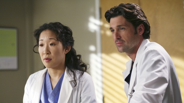 GREY'S ANATOMY - &quot;Sometimes a Fantasy&quot; - Cristina tries to help Preston cope with his hand tremor, Izzie attempts to return to the hospital for the first time since she quit the program, Alex deals with a patient who has a long history of injuries, and George and Callie's relationship moves forward, on &quot;Grey's Anatomy,&quot; THURSDAY, OCTOBER 5 (9:00-10:01 p.m., ET) on the ABC Television Network. (ABC/KAREN NEAL)SANDRA OH, PATRICK DEMPSEY