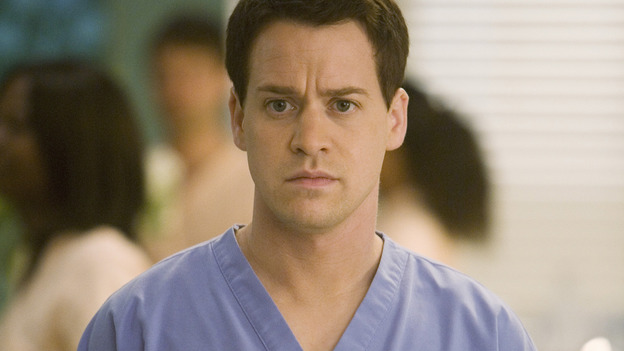 "GREY'S ANATOMY - ""Brave New World"" - Dr. George O'Malley, on ""Grey's Anatomy,"" THURSDAY, OCTOBER 16 (9:00-10:01 p.m., ET) on the ABC Television Network. (ABC/RANDY HOLMES) T.R. KNIGHT"