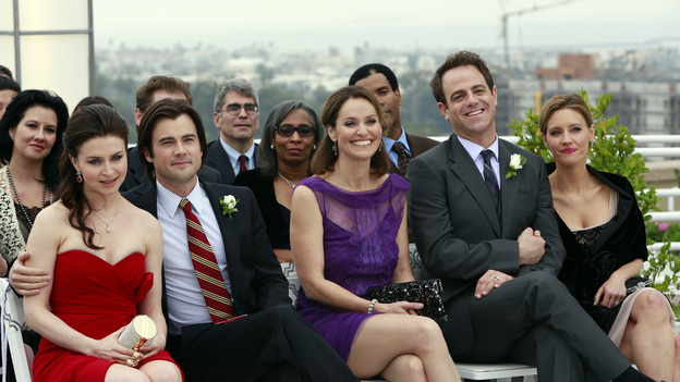 PRIVATE PRACTICE - &quot;In Which We Say Goodbye&quot; - ABC's hit drama &quot;Private Practice&quot; will end its run with a special farewell to the beloved doctors of Seaside Health and Wellness. Naomi returns to stand by Addison's side on her wedding day, Cooper struggles with the hardships of being a stay-at-home father, and Violet begins a new project close to her heart, on the Series Finale of &quot;Private Practice,&quot; TUESDAY, JANUARY 22 (10:00-11:00 p.m., ET) on the ABC Television Network. (ABC/RON TOM)CATERINA SCORSONE, MATT LONG, AMY BRENNEMAN, PAUL ADELSTEIN, KADEE STRICKLAND
