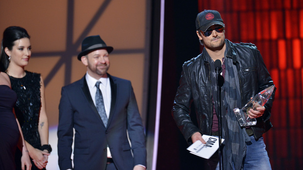 "THE 46TH ANNUAL CMA AWARDS - THEATRE - ""The 46th Annual CMA Awards"" airs live THURSDAY, NOVEMBER 1 (8:00-11:00 p.m., ET) on ABC live from the Bridgestone Arena in Nashville, Tennessee. (ABC/KATHERINE BOMBOY-THORNTON)KRISTIAN BUSH, ERIC CHURCH"