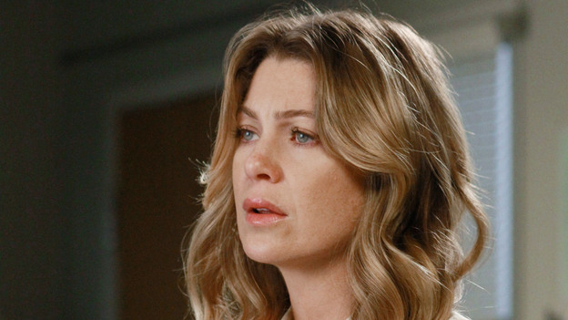 "GREY'S ANATOMY - ""She's Gone"" - In the second hour, ""She's Gone"" (10:00-11:00 p.m.), news of Meredith and Derek's unsteady relationship raises a red flag for Zola's adoption counselor; Alex quickly realizes that he has become the outcast of the group after ratting out Meredith; and Cristina makes a tough decision regarding her unexpected pregnancy. Also, Chief Webber brings Henry in for a last minute surgery, alarming Teddy. ""Grey's Anatomy"" returns for its eighth season with a two-hour event THURSDAY, SEPTEMBER 22 (9:00-11:00 p.m., ET) on the ABC Television Network. (ABC/RON TOM)ELLEN POMPEO"