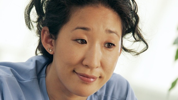 "GREY'S ANATOMY - ""I Am a Tree"" - Cristina meets Burke's parents -- and in the most awkward of circumstances -- the interns campaign for Izzie's reinstatement to the surgical intern program, Addison takes a break from her hospital duties, and a surgical patient lives what may be her last day to the fullest, on ""Grey's Anatomy,"" THURSDAY, SEPTEMBER 28 (9:00-10:01 p.m., ET) on the ABC Television Network. (ABC/VIVIAN ZINK)SANDRA OH"