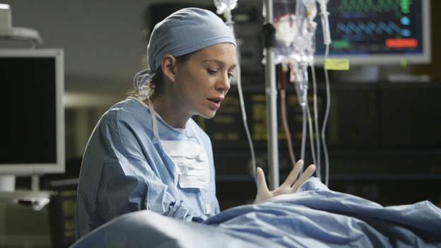 "GREY'S ANATOMY - ""It's the End of the World (As We Know It)"" (ABC/PETER ""HOPPER"" STONE)ELLEN POMPEO"