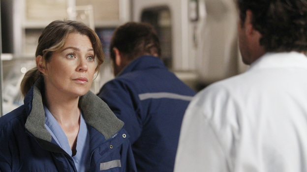 GREY'S ANATOMY - &quot;Dark Was the Night&quot; - Teddy puts her husband's life in the hands of her peers when Henry is sent to the OR for surgery and she's called away on another case; Meredith and Derek receive the long-awaited news about Zola; Callie and Jackson come under fire when their patient experiences post-surgery complications; and Meredith and Alex are involved in a life-threatening situation when they travel to a neighboring hospital to tend to a sick newborn, on Grey's Anatomy, THURSDAY, NOVEMBER 10 (9:00-10:02 p.m., ET) on the ABC Television Network. (ABC/JORDIN ALTHAUS)ELLEN POMPEO