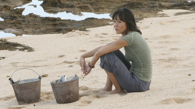"LOST - ""Par Avion"" - Claire becomes suspicious of Charlie when he exhibits peculiar behavior after she comes up with an idea that could get everybody rescued. Meanwhile, tensions mount between Sayid and Locke as they continue their trek to rescue Jack, on ""Lost,"" WEDNESDAY, MARCH 14 (10:00-11:00 p.m., ET), on the ABC Television Network. (ABC/MARIO PEREZ)YUNJIN KIM"