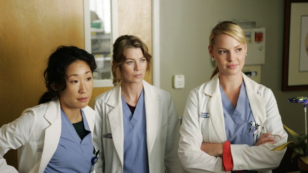 "GREY'S ANATOMY - ""Something to Talk About""(ABC/CRAIG SJODIN) SANDRA OH, ELLEN POMPEO, KATHERINE HEIGL"