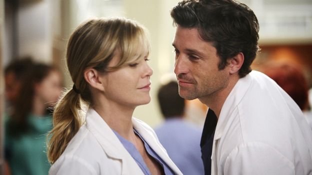 "GREY'S ANATOMY - ""Here Comes the Flood"" - Derek plans to kick Alex and Izzie out of the house, but Meredith might have other ideas, on ""Grey's Anatomy,"" THURSDAY, OCTOBER 9 (9:00-10:01 p.m., ET) on the ABC Television Network. (ABC/DANNY FELD) ELLEN POMPEO, PATRICK DEMPSEY"
