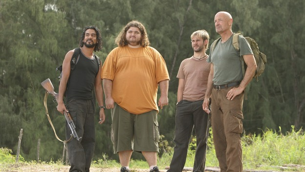 "LOST - ""Flashes Before Your Eyes"" - A suspicious and determined Hurley enlists Charlie to help him wrangle the truth out of Desmond, who has been acting strangely ever since the implosion of the hatch, on ""Lost,"" WEDNESDAY, FEBRUARY 14 (10:00-11:00 p.m., ET), on the ABC Television Network.  (ABC/MARIO PEREZ)NAVEEN ANDREWS, JORGE GARCIA, DOMINIC MONAGHAN, TERRY O'QUINN"