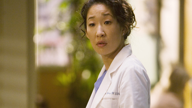 "GREY'S ANATOMY - ""Brave New World"" - Dr. Cristina Yang, on ""Grey's Anatomy,"" THURSDAY, OCTOBER 16 (9:00-10:01 p.m., ET) on the ABC Television Network. (ABC/RANDY HOLMES) SANDRA OH"