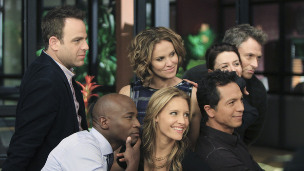"PRIVATE PRACTICE - ""Who We Are"" -  In the first hour or a special two-hour edition of ABC's ""Private Practice,"" THURSDAY, NOVEMBER 17 (9:00-11:00 p.m., ET) -- entitled ""Who We Are"" -- the Seaside Wellness group stages an intervention for a defensive and volatile Amelia, who has resurfaced after disappearing on a 12-day drug binge with her boyfriend, Ryan. During the intervention, Amelia mercilessly attacks her friends one-by-one, and Addison, in particular, has trouble seeing her sister-in-law in her present condition. (ABC/MATT KENNEDY)PAUL ADELSTEIN, TAYE DIGGS, AMY BRENNEMAN, KADEE STRICKLAND, BENJAMIN BRATT, CATERINA SCORSONE, TIM DALY"