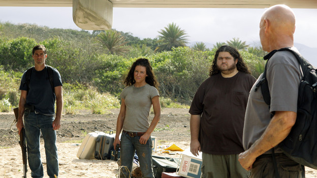"LOST - ""The Candidate"" - Jack must decide whether or not to trust Locke after he is asked to follow through on a difficult task, on ""Lost,"" TUESDAY, MAY 4 (9:00-10:02 p.m., ET) on the ABC Television Network. (ABC/MARIO PEREZ) MATTHEW FOX, EVANGELINE LILLY, JORGE GARCIA, TERRY O'QUINN"