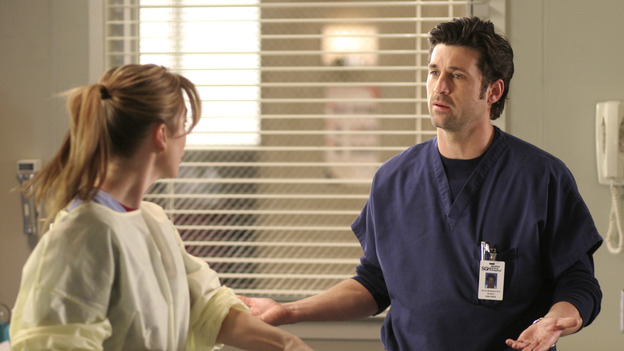 "102004_9959 -- COMPLICATIONS - ""WINNING A BATTLE, LOOSING A WAR"" (ABC/MICHAEL ANSELL)ELLEN POMPEO, PATRICK DEMPSEY"
